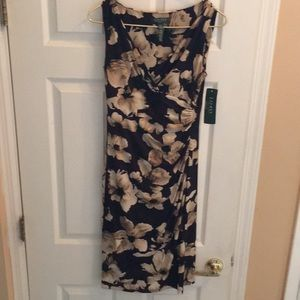 NWT Lauren size 4 summer dress new floral print